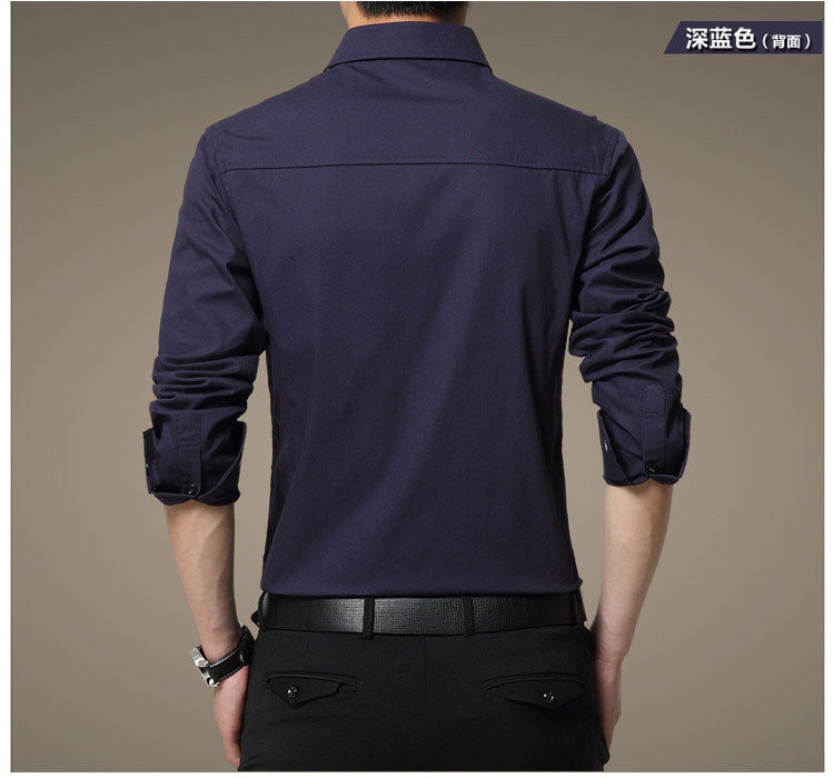 Famous Camisa Male Shirts Long Sleeve Men Shirt Fashion Casual Business Formal Shirt Chemise Homme Autumn Brand Clothing (12)