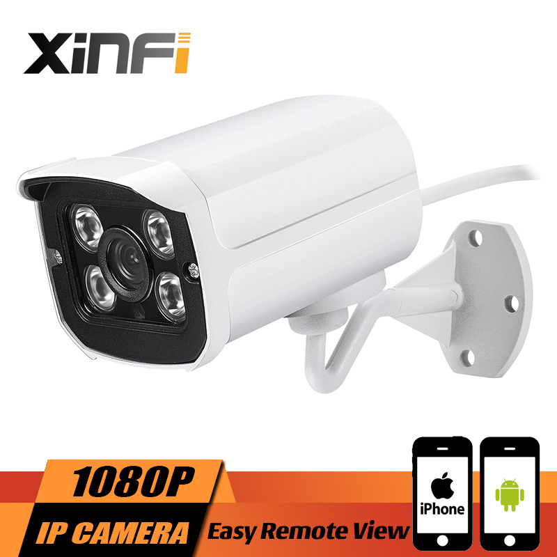 XINFI Aluminum Metal Waterproof Outdoor Bullet IP Camera 720P 960P 1080P Security Camera CCTV 4PCS ARRAY LED Board ONVIF Camera<br>