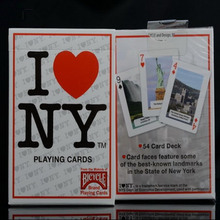 Hot Sale United States imports I love NY Poker license plate magic Playing Cards Mgaic Props 1PCS Deck