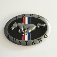 Classic 9.9*7cm Oval Color Ford Mustang Belt Buckle With Metal Cowboy Belt Head Jewelry Jeans Accessories Fit 4cm Wideth Belt