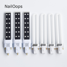 7 PCS/Lot New Design 9W UV 10W LED GELCuring Lamp Nail Curing LED UV Nail Art Dryer Bulbs Replacement(China)