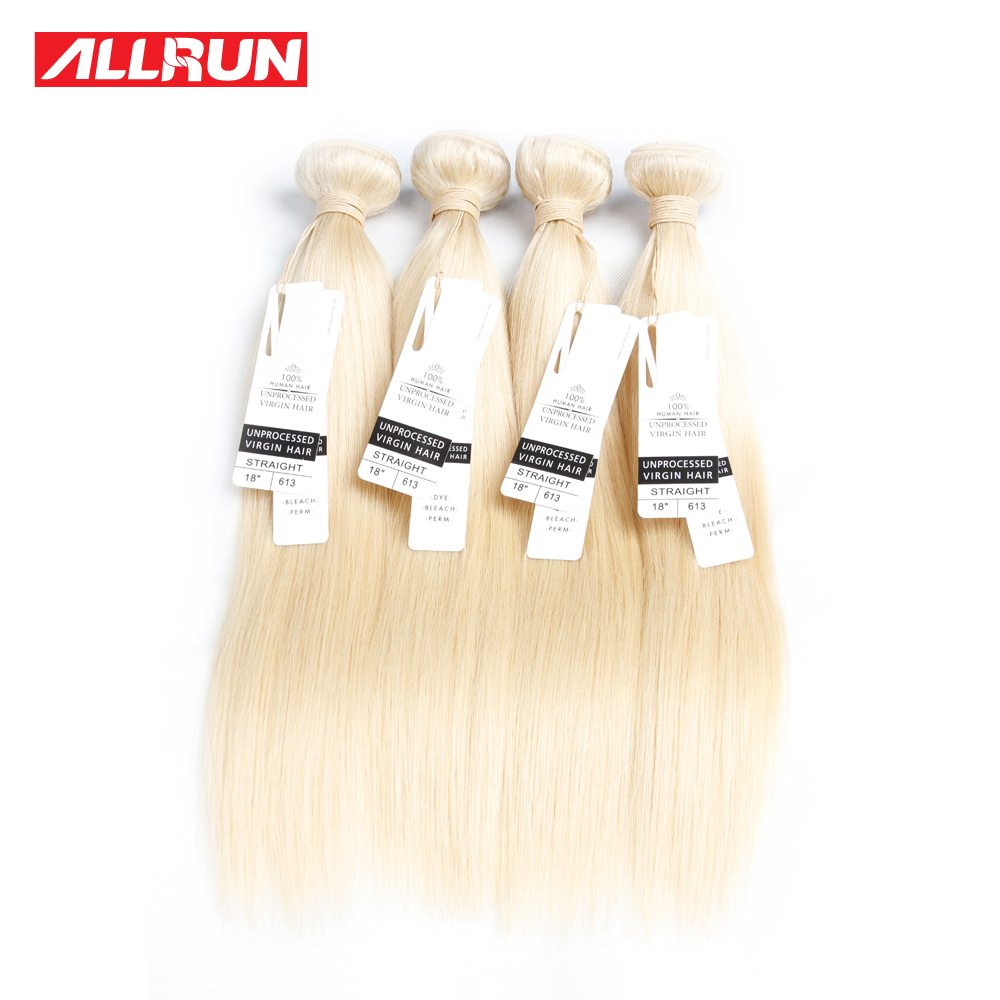 10 PCS Blonde Straight Peruvian Human Hair Bundles 613 Blonde Virgin Hair Weave 8A Grade Unprocessed Virgin Human Hair Extension<br><br>Aliexpress