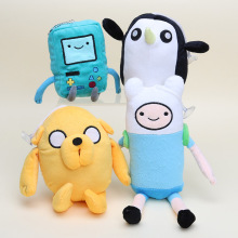 Classic Soft Kids Finn and Jake Dog BMO Beemo Adventure Time Stuffed Plush toys Doll Penguin Stuffed Animals plush figure toys