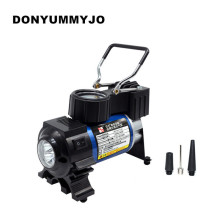 Buy Mini New LED Portable Metal Super Flow DC 12V Car Air Pump Car Inflatable Pump Air Compressor Auto Electric Tire Inflator for $24.00 in AliExpress store