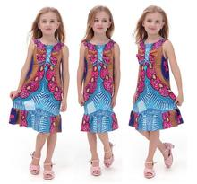 2017 African Dress Clothing New Autumn And Winter Explosion Models Of Small Medium Sized Children's National Style Print Dress