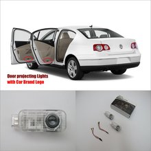 Car Door Ghost Shadow Lights For VolksWagen VW Passat 2000~2010 Courtesy Doors Lamp / Brand Logo LED Projector Welcome Light(China)