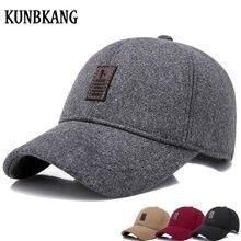 2018 New Wool Baseball Cap Men Winter Snapback Dad Hats Solid Thick Trucker  Cap Warm Men Winter Baseball Cap Hat Casquette Homme dea5fb75fd5e