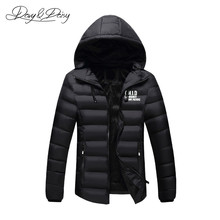 DAVYDAISY Men Winter Jacket Casual Padded Cotton Thick Warm Parkas Men Fashion Coat Male Brand Clothing Outwear JK034(China)