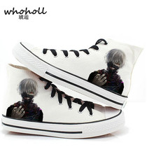 Christmas gift 2016 spring Men women casual canvas shoes plimsolls Japanese anime Tokyo Ghoul print shoes(China)