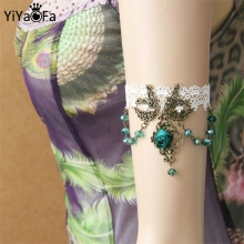 YiYaoFa DIY Gothic Jewelry Lace Arm Accessories Women Arm Bangles Handmade Summer Fashion Girl Party Jewelry AT-33