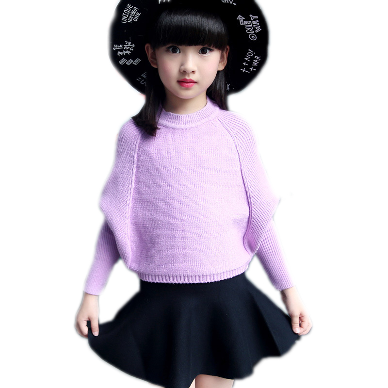 baby christmas outfits autumn winter clothes for girls top solid long sleeve knitted sweater+black tutu skirts children clothing<br>