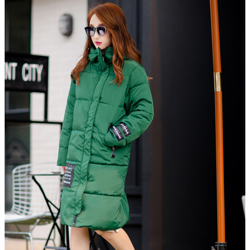 2016 New Lady Parkas Female Jacket Long Design Winter Coat Women Jacket Coats Hooded Thicken Warm Padded Cotton OvercoatОдежда и ак�е��уары<br><br><br>Aliexpress
