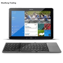 MaoRong Trading Folding Bluetooth Keyboard Wireless External Mini Touchpad Keypad for Samsung Galaxy Tab S T800 T805C 10.5 inch(China)