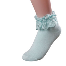 5 Color Available Fashionable Lovely Cute Fashion Women Vintage Lace Ruffle Frilly Ankle Socks Lady Princess Girl favorite(China)