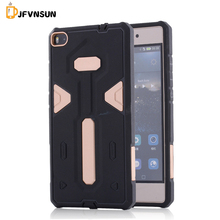 P8 NEW Hybrid TPU+PC Hard Plastic Armor Case For Huawei P8 HOT Slim Dual Color Rubber Dustproof plug Protect Phone Back Cover P8