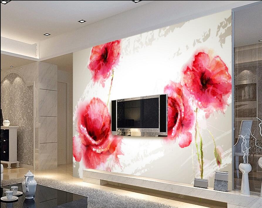 Custom Floral wallpaper murals,Vintage Rose Painting,3D photo wallpaper for living room bedroom hotel wall embossed wallpaper<br><br>Aliexpress