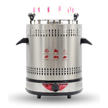 Electric barbecue Machine Smart Timing Smokless Electric Oven Automatic Rotation Grill  800W Stainless Steel Grill
