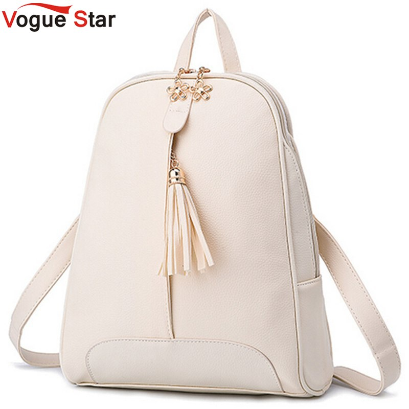 Vogue Star New Fashion Women s PU Leather Backpack Mochila School Bags Teenagers Female College Students Bag   LS354<br><br>Aliexpress