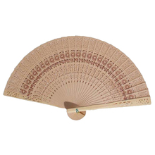 20cm Fragrant Home Decoration Crafts Bamboo Wooden Fan Summer Accesory Art Folding Carved Hand Fan