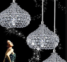 Led Iron Crystal 18cm Simple Modern Restaurant Pendant Lights For Dining Room Modern Pendentes e Lustres Pendant Lamp(China)