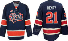Regina Pats #21 Nick Henry Hockey Jersey Embroidery Stitched Customize any number and name Jerseys(China)