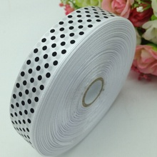 HL 1 roll (50yards) 18mm width printed dots satin ribbon wedding party decoration crafts making ribbon bows DIY accessories A932