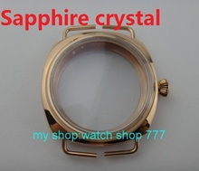 45mm Pvd Rose gold Stainless Case Fit 6497-6498 Movement High quality Sapphire crystal watchcase wholesale 09
