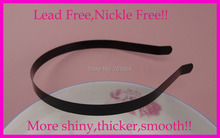 10PCS 10mm black  plain metal hair headbands with bend end at nickle free and lead free quality,BARGAIN for BULK