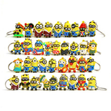 1 Piece Cute Styles Yellow Minions Cartoon Animiation Action Figure Doll Keychain House Birthday Christmas Gifts Kids Toys