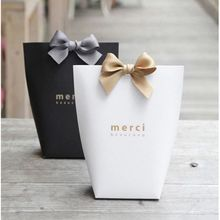 1-5X Merci Beaucoup Elegant Party Paper Wedding Favour Gift Sweets Boxes Bags(China)
