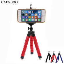 CAENBOO Mini Flexible Tripod Camera Octopus Monopod Portable Mount Tripod+Phone Stand Holder For iPhone 6s 7 Xiaomi Samsung HTC(China)