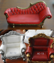 1/6 Scale Armchair Dolls Action Figure Accessories Retro Long/Short Sofa Model for DIY Figure Toys