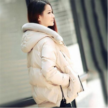 Fashion Down Jacket Women Winter Coat Fashion Thick Lady White Duck Down Garment With Hood Warm Black Green Beige Free Shipping