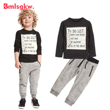 Kids Clothes Baby Boy Clothes Winter Autumn Cotton Long Sleeve T-Shirt + Casual Long Pants 2pc Suit Children Clothing Sets