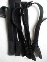 10pc 30cm*2cm Black Elastic Fastener Cable Tie Down Straps Cord Hook Loop(China)