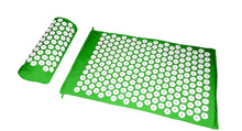 Massager (appro.67*42cm) Acupressure Mat and Pillow two in One set Body Head Back Foot Massage Cushion Shakti Mat Yoga Message