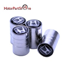 4pcs/lot Metal Chrome Wheel Tire Valve Caps Stem Air Cover for Honda Silver Chrome Car Wheel Stem Cover $