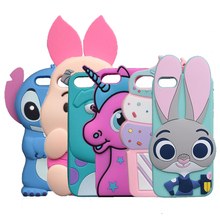 3D Cartoon Stitch Case For Apple iphone X 8 7 6 Plus 4S SE 5 5G 5S 5C Rabbit Horse Sulley Cover(China)
