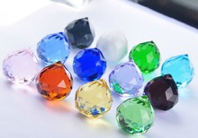 30pcs 20mm Chandelier Crystal Mixed Colors Faceted Ball Prism Suncatcher Feng Shui Crystal Faceted Ball Prism Free Shipping