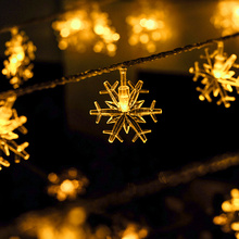 2.5M 20 LED Snow Shape Light String Battery Linkable Ball holiday Christmas Halloween New Year Party Decoration lighting Lamp