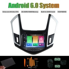 Android 6.0 Octa núcleo REPRODUCTOR de DVD DEL COCHE para CHEVROLET CRUZE 2015 AUTO Radio RDS ESTÉREO WIFI 2G RAM 32 GB Inand Flash con canbus(China)