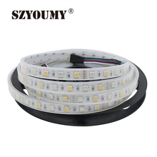 SZYOUMY 16.4ft 5M 60LEDs/meter DC 12V IP67 RGBW 5050 Flexible LED Strip Tube Waterproof RGBW White Warm White(China)