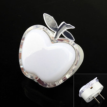 Energy Saving Apple Shaped Colorful LED Night Light Bedroom Lamp Home Wall Lamp Nightlight Kid's Room Decoration Light US Plug