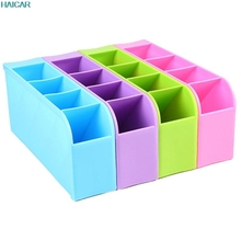 4 slots Plastic Muti-functional makeup socks Organizer Storage Box For school office supplies Drawer Home Kitchen Storage feb20