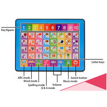 English computer Y-Pad learning machine touch screen tablet toys,baby's early education multi-function letters voice music toys