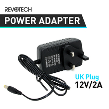 UK Type Adapter DC 12V 2A CCTV Security Camera Power Supply UK Plug Power Adapter