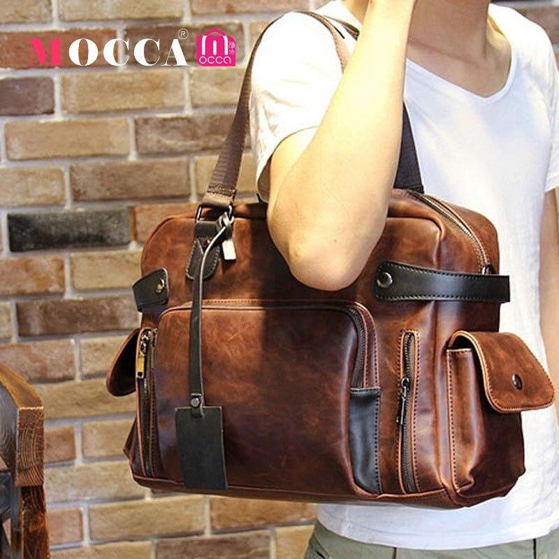 Original Design Men Leather Handbags Tassel Men Crazy Horse Leather Messenger Bags Shoulder Bag Briefcase Hotselling Tote Bag<br>