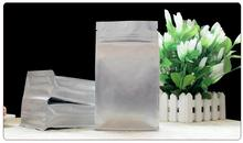 Qi Silver Aluminum Foil Zip Lock Bag 10*20cm Resealable Retail Plastic Packaging Bag resealable ziplock bags small 100pcs/lot(China)
