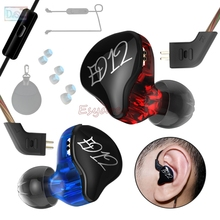 Gift + KZ ED12 In Ear Earphone Earbuds Headset Hifi Earphones with/out Mic / Bluetooth Kit for Cell Mobile Phone