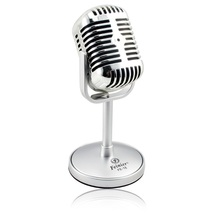 2015 High Quality Satin Surface Plating Vintage Microphone Mini Microfon Wired Microfone For Sing Record on Computer